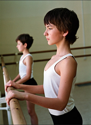 Two young boys learning ballet at the Vaganova Ballet Academy