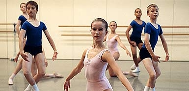 Young pupils at the Royal Ballet School 2009