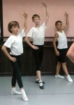 Adam Zabielski, 12, (center left), Jason Ferro, 10, (center right) and Spencer Wetherington, 11 at Maxine's Dance Studio 2009