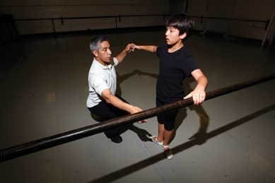 Alex Ko, 12, with Eloy Barraghan 2008
