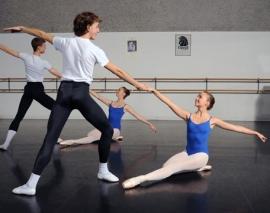Boys training at Alberta Ballet