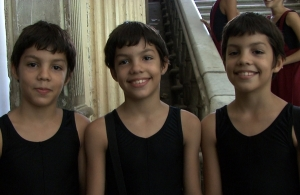 Dancing triplets 11 year-old Angel, César and Marcos in Sylvie Collier's documentary To Dance Like a Man 2012