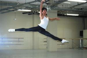 JP Viernes, in flight as a Shely Pack Dancers student