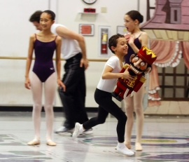 Lucas Galvan, 9, rehearses his part in the PNB Nutcracker 2012