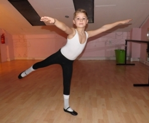 Spencer Vale, 9, successfully auditioned for a place in the London Children's Ballet production of The Secret Garden 2012