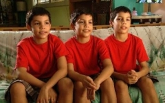 Triplets Angel, César and Marcos are training for places at the National Ballet of Cuba 2012