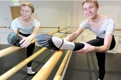James Tibbles, 16, at the barre 2013