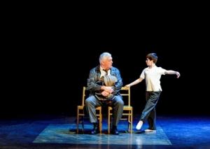 Rich Hebert is Dad, and Mitchell Tobin is Billy in Billy Elliot (Photo by Amy Boyle)