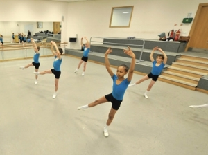 Jakob Myers, 11, working hard in ballet class 2013