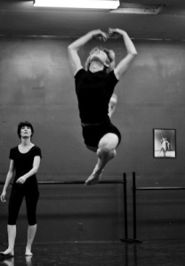 Joe Howarth, 16,  practices ballet at Dance Red Bluff ( Photos courtesy - Dance Red Bluff ) 2013