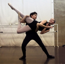 Stefan Arriscorreta, 13, practices a lift during one of his ballet classes at the Academy of Ballet 2013