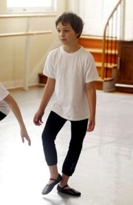 Aedyn Orduno, 8, practices during a boys ballet class at American Ballet Academy 2013