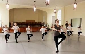 Annie Joslin, owner of American Ballet Academy, teaches a boys ballet class 2013