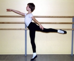 In a 2002 photo, 13-year-old dancer Lucas Threefoot takes dance class at the School of Oregon Ballet Theatre