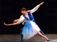 In a 2006 School of Oregon Ballet Theatre performance, dancers Grace Shibley and Lucas Threefoot perform Snow White (Photo by Christian Johnson)