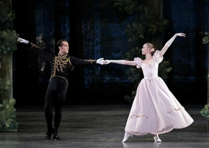 Jared Angle and Teresa Reichlen in George Balanchine's Vienna Waltzes. (Photo by Paul Kolnik)