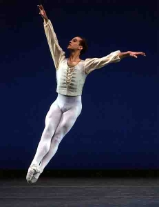 Jared Angle in George Balanchine's Allegro Brillante (Photo by Paul Kolnik)