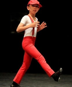 Reuben Chan, 8, at the Taranaki Fancy Dancing Association Easter Competitions (Photo by Jonathan Cameron) 2013