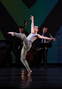 Devon Lodge dances at a Juilliard School dance performance in early April (Photo courtesy of Juilliard School) 2013