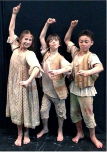 JKO students Olivia Scott, Justin Souriau-Levine and Lenin Hibler perform in Don Quixote (Photo J. Y