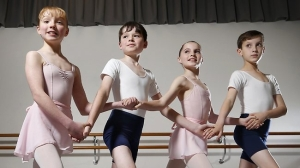 Australian Ballet School dancers Paloma Hendry-Hodsdon, Hamish Jones, Bianca Juelg and Ethan Slocomb will perform in Swan Lake (Picture by David Caird) 2013