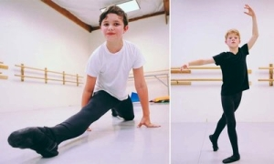 Nathan Rowell and Connor Davidson at Oregan Ballet Academy (photos by Todd Cooper) 2013
