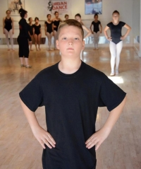 Tanner March, 10, has no problem being the only boy in his ballet class 2013