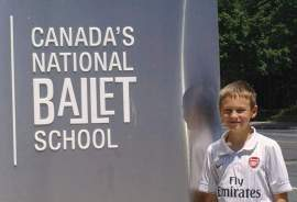 Christopher Waters, 11, will attend Canada's National Ballet School 2013