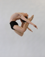 Lawrence Lambert, 20, at the National College of Dance, Australia (Photo by Branco Gaica)