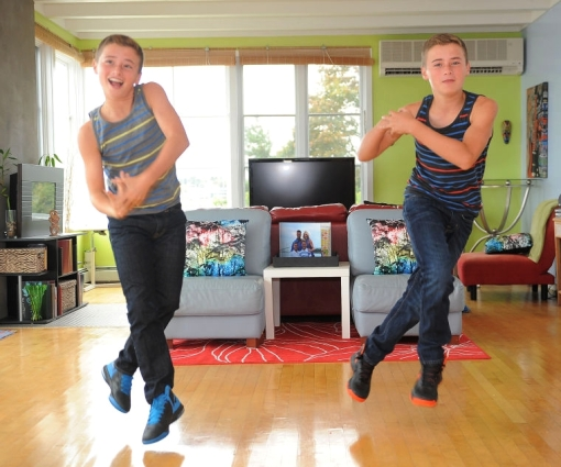 "Travis and Tyler Atwood have appeared on the reality program ""Abby's Ultimate Dance Competition 2013 (photo by Dave Hansen)"