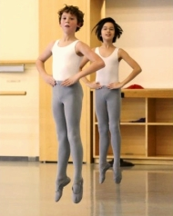 Canada's National Ballet School students Benjamin Alexander, left, and Cole Sweet (photo by Andrew Wallace) 2013