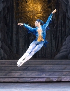 "Herman Cornejo in the ""Bluebird"" variation of The Sleeping Beauty (photo by Gene Schiavone)"