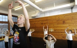 Brennan Benson, 16, teaches a recent Boys Club ballet class at Dance Gallery (photo by Emily Spartz) 2013