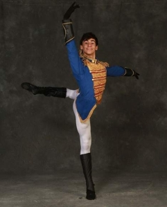 Cameron Thomas in costume as the Nutcracker Prince 2013