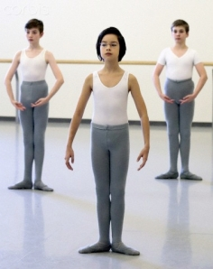 Cole Sweet, centre, at Canada's National Ballet School (photo by Andrew Francis Wallace) 2013