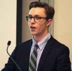 Graham Johns '14 presents his Brace research (photo by D Bhathena) 2014