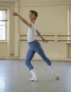 James Parratt, 17, will attend the Central School Of Ballet (photo by Bill Cooper) 2013