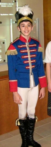 Michael Carvalho, 12, as the Prince in Ballet Jorgen's Nutcracker (Observerxtra)