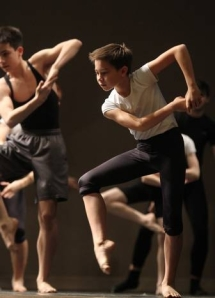 Makani Yerg, 12, of Rockville, Md., participates in the master class in modern dance (photo by Mary Murphy) 2014