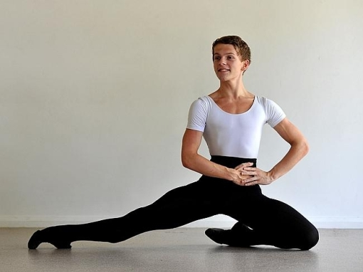 Thomas Dilley, 15, has been selected to compete in the finals of the YAGP in New York, He trains full time at Tuggerah at Premiere Elite (Source News Limited) 2014
