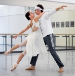 Sonia Rodriguez and Aleksander Antonijevic in the rehearsal studio (Peter J