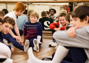 Boys at rehearsal of LCB's Nanny McPhee (Louise Haywood Schiefer, The London Magazine) 2014