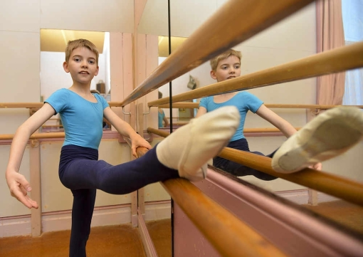 Lewis Bartholomew, 10, has been accepted for a place at the Elmhurst School of Dance (The Shropshire Star) 2014-03