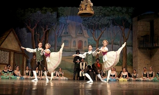Performing in St. Croix Ballet's Coppelia are Will Kratz with Sydney Hall (left) and Jeremy Baxter with Catherine Wessel (Christin Beaurline, Bozidar Photography) 2014