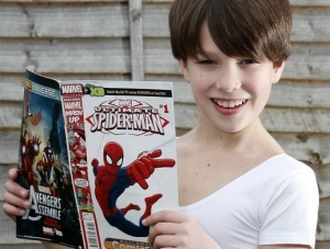 Tristan Hayden, 11, will attend the RBS in September (Crawley News) 2014