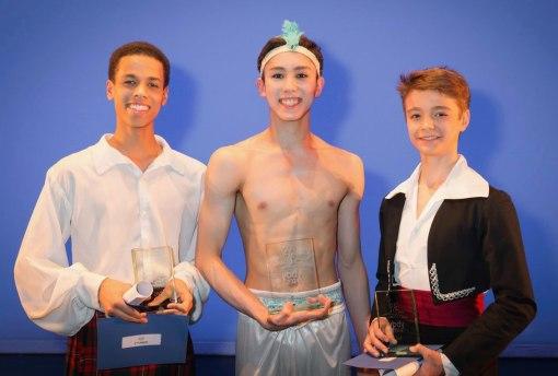 Winners Joseph Sissens,16, Erik Woolhouse, 17, and Nicholas Landon, 15  (Johan Persson) 2014