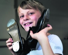 Bobby Ratcliffe, 10, will attend the Barbara Speake Stage School (Oxford Mail) 2014