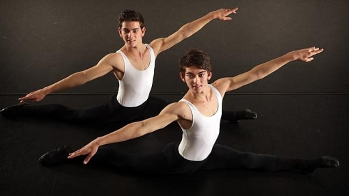 Jarrad Gallagher and Branden Gallagher, 16, at rehearsal in Seven Hills (John Fotiadis, News Limited) 2014