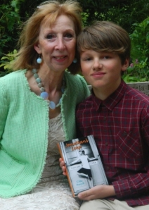 Joseph Hallett, 11, with Celia Purcell, author of Jonathan's Leap (Tottenham Journal) 2014