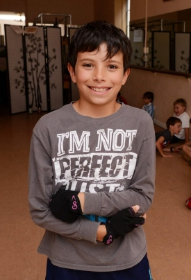 Ravi Cannonier-Watson, 9, is trying out for hit London musical, Billy Elliot (Photo by Akil Simmons) 2014